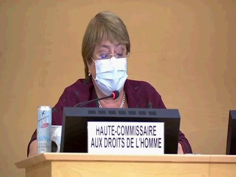 OHCHR  BACHELET HRC OPENING